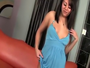 Chubby amateur Korean girlfriend couch intense love making with BBC