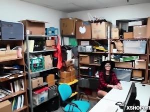 Audrey Royal caught shoplifting and sucking up cocks