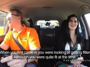 Big tits brunette examiner fucking