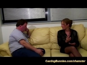 anal casting with french Milf