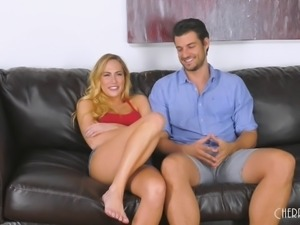 Blonde vixen Carter Cruise opens her legs for a fat boner