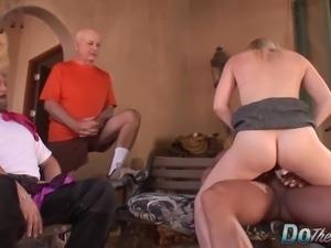 Horny housewife Liz Black cuckold