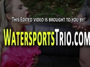 Riding babe urinated over