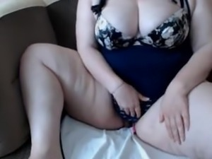 Nice BBW playing with her panties
