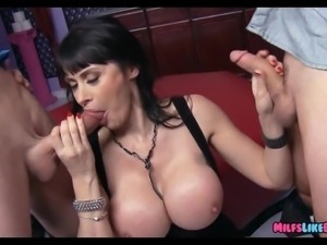 Huge Tit MILF finds Big Dicks at the club