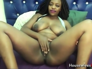 Ebony with tight ass hole and hairy pussy