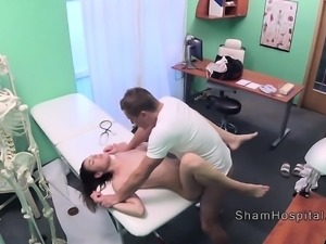 Doctor punishing sexy patient in hospital
