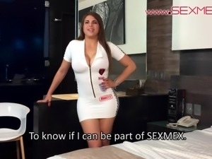 Alexandra Paris hot Latina does her first casting for sexmex