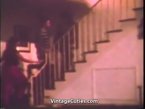 Two Mistresses Enjoy Having a Male Slave (1970s Vintage)
