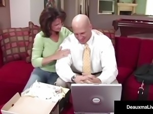 Naughty Wife Deauxma Gets Free Advice For Sex From Tax Man!