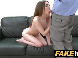 Fake Agent Skinny model makes hard sex an art form