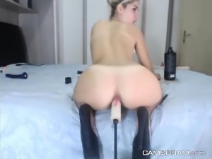 Amazing Amateur Slut Takes A Try Out On The Fuck Machine