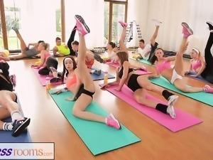 FitnessRooms Barbara Bieber has a sexual workou