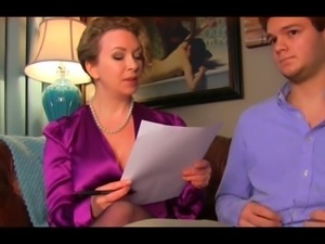 Strict MILF checks if her boy has been studying