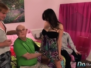 Super horny housewife pulls her fuck buddy's dick out and