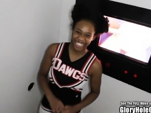 18yo Cheerleader Glory Hole Big Tit BlowJobs