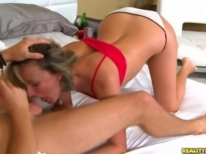 Tight mom Misty Law gets slammed in white panties