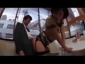 Japanese handjob and assjob