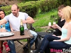 Bisexual stud face jizzed