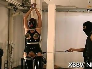 Enormous tit punishment for amateur woman