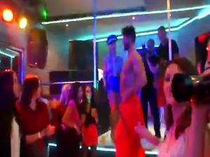 European babes cocksucking at sexparty