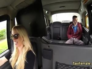 Horny milf taxi driver fucks teen guy