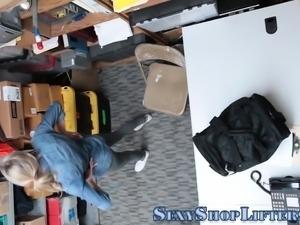 Teen shoplifter jizzed