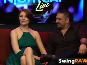 Amateur swingers watch recap of reality show