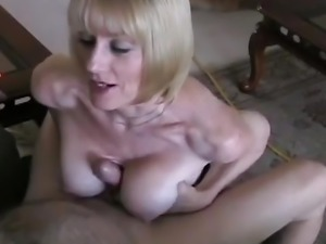 Titjob and Cum From Amateur Granny