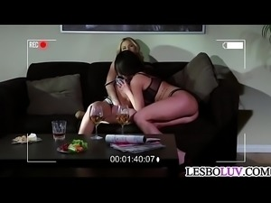 Lesbian mom likes her blonde stepdaughter