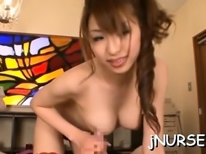 Nurse in heats roughly screwed and made to swallow jism