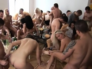Ultimate Hardcore Group SEX at HOME Party
