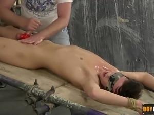 casper ellis has been captured blindfolded and tied