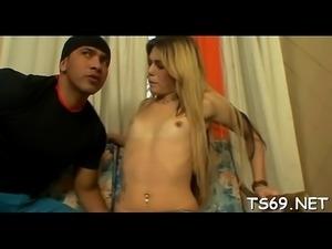 T-girl on female porn