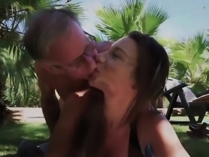 Old Young Big Tits Teen Gives Titjob gets facial cum