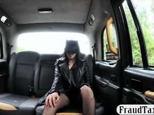 Passenger banged by nasty driver in a secluded location