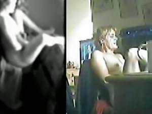 Split screen hidden cam masturbation 1