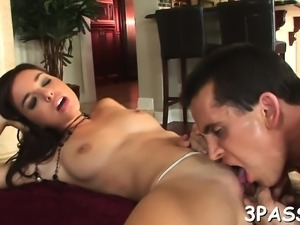 2 concupiscent girl suck dick and get holes fucked so well