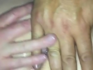 Spit and rim her arsehole while she slaps my face!
