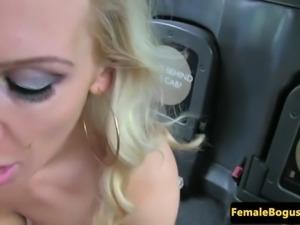british taxi babe sucking before public sex