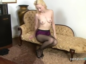 lacy girl outfit with a pantyhose