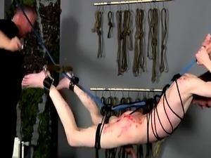 Ball bondage movie and homo gay Master Sebastian Kane has the sweet Aa