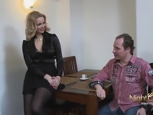 Nerd fucking German MILF and cum on tits