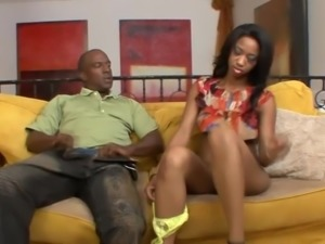 Black babe Jade Nicole wants to ride her lover's hard prick