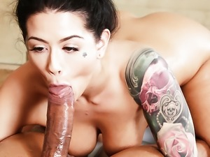 Katrina Jade vs oiled monster cock