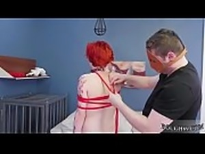 Rough muscle and hentai the pleasure of bondage Analmal Training