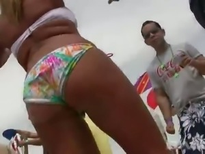 These big bootied sluts always want adventures and they love beach parties