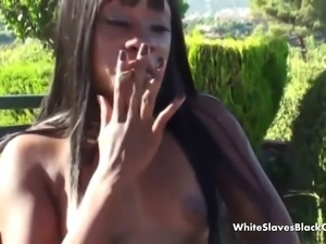 dominating ebony babes have a servant