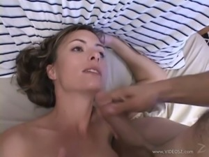 Heart-Stopping Brunette MILF Gets Fucked and Receives a Messy Facial