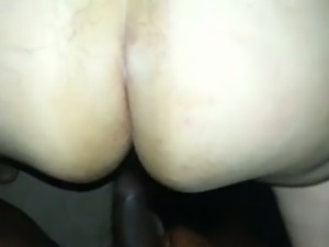 Big black guy fucks my pussy in a doggy position